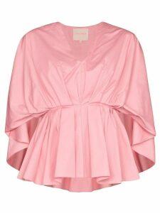 Roksanda V-neck peplum blouse - PINK