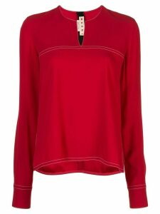 Marni contrast stitch blouse - Red
