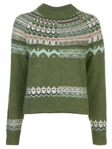 M Missoni cropped patterned jumper - Green