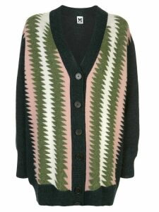 M Missoni chunky knit patterned cardigan - Blue