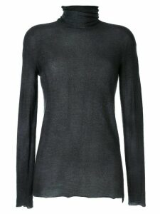 Avant Toi turtle-neck fitted top - Black