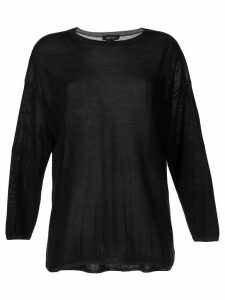 Avant Toi long-sleeve fitted top - Black