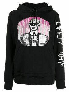 Karl Lagerfeld x Endless Karl print hoodie - Black