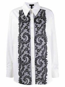Escada lace detail boxy fit shirt - White