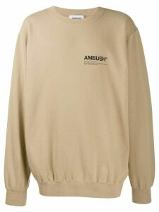 Ambush Sense Exclusive oversized sweatshirt - NEUTRALS