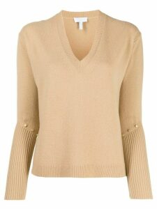 Escada Sport studded knit jumper - NEUTRALS