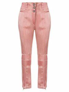 Ann Demeulemeester straight leg satin trousers - PINK