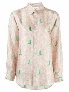 LANVIN JL labyrinth print shirt - NEUTRALS