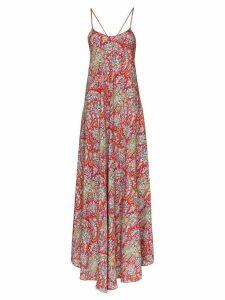 Etro paisley print maxi dress - Red