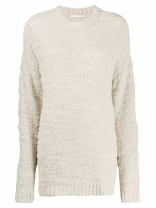 Our Legacy raw-finish knit jumper - NEUTRALS