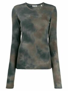 Our Legacy tie-dye ribbed knit jumper - Brown