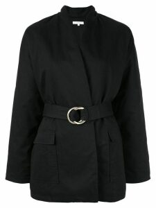 Venroy oversized wrap jacket - Black