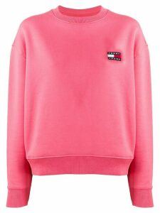 Tommy Jeans embroidered logo sweater - Pink