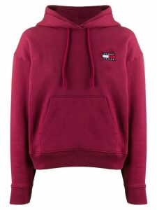 Tommy Jeans embroidered logo hoodie - PINK