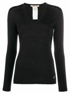Roberto Cavalli embroidered details knitted jumper - Black