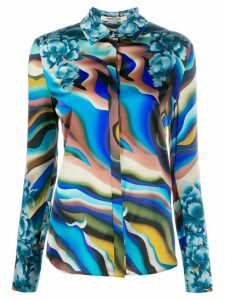 Roberto Cavalli abstract print shirt - Blue