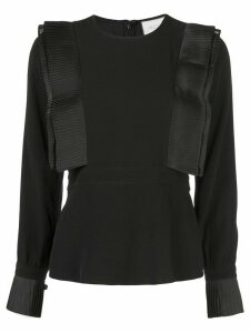 Alexis pleated detail top - Black