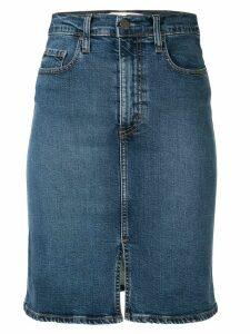 Nobody Denim Siren Split denim skirt - Blue