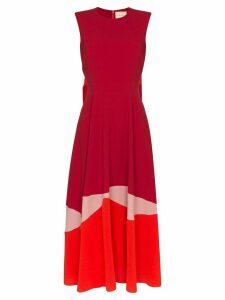 Roksanda colour-block flared dress