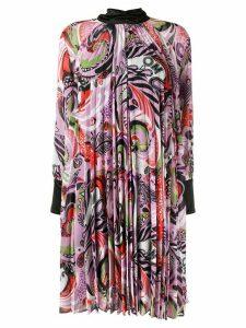 Romance Was Born paisley print pleated dress - PURPLE