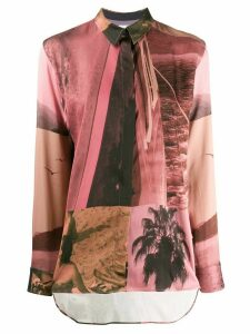 Paul Smith abstract print shirt - PINK