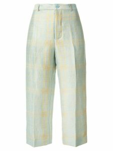 Aspesi checked trousers - Blue