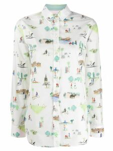 Paul Smith holiday print shirt - White