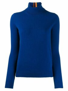 Paul Smith cashmere turtleneck jumper - Blue