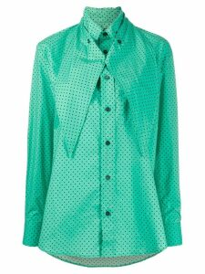Plan C loose-fit polka dot shirt - Green