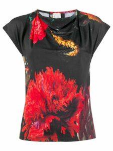 Paul Smith flower print T-shirt - Black