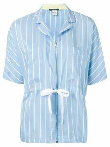 Paul Smith zipped stripe shirt - Blue