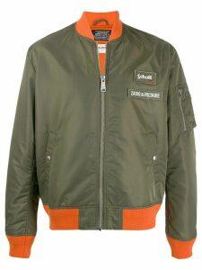 Zadig & Voltaire x Schott contrast trim bomber jacket - Green