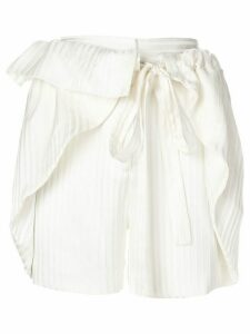 Stella McCartney striped shorts - NEUTRALS