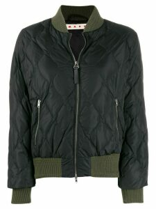 Marni quilted bomber jacket - Black