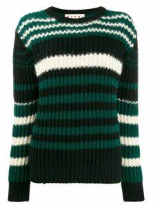 Marni striped knit jumper - Black