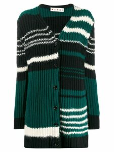 Marni stripped knitted cardigan - Black