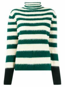 Marni stripped wool jumper - Green