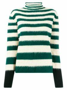 Marni stripped wool jumper - Green