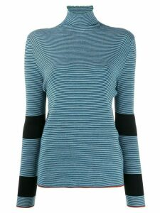 Marni striped knitted top - Blue