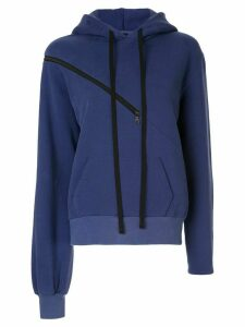 Unravel Project zip detail hoodie - Blue