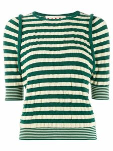 Marni stripped knitted top - Green