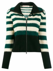 Marni knitted zip-front jumper - Green