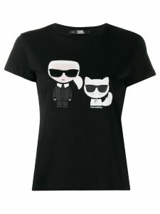 Karl Lagerfeld Karl & Choupette Ikonik T-shirt - Black