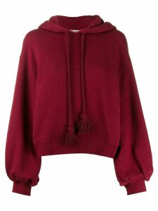 Ulla Johnson tassel drawstring hoodie - Red