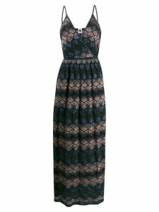 M Missoni patterned V-neck maxi dress - Blue