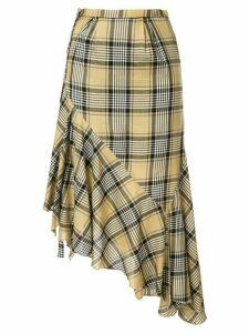 Maison Mihara Yasuhiro plaid wrap skirt - Yellow