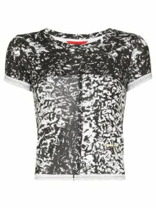 Eckhaus Latta abstract print cropped T-shirt - White