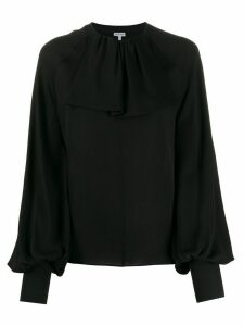 Loewe lavaliere rib collar blouse - Black
