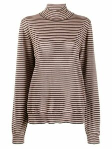 Maison Margiela striped turtle neck jumper - PINK