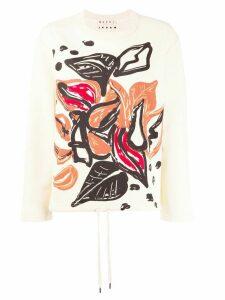 Marni graphic print jumper - NEUTRALS